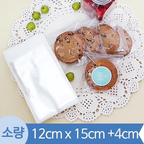 [소량] OPP투명접착봉투 ( 12x15+4cm) 1봉 200장